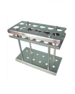 Estante para Butirômetro em Aço Inox - 12 Provas RIC037-12