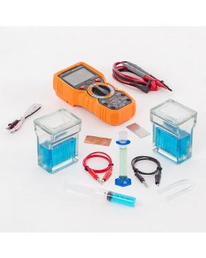 Conjunto Pilhas Eletroquímicas, Simples e Daniell, Multímetro EQ222B