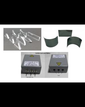 Conjunto de Ótica: Kit de Óptica Geométrica Master, Espelhos Cilindricos e Canhão Laser para Otica HF-060922