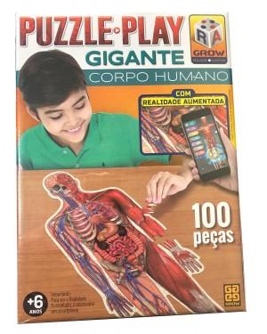Quebra Cabeça Gigante do Corpo Humano 100 Peças QC-CH100