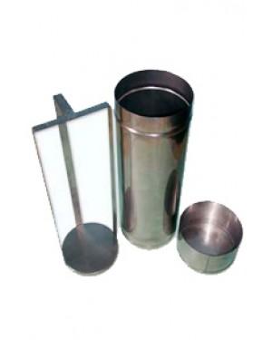 Estojo em Aço Inox para Esterelizar Placa de Petri RIC041-110270