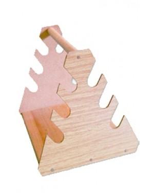 Suporte Triangular de Madeira para Pipetas RIC075-06