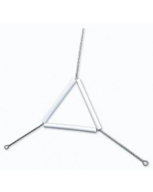 Triângulo de Arame com Porcelana RIC083