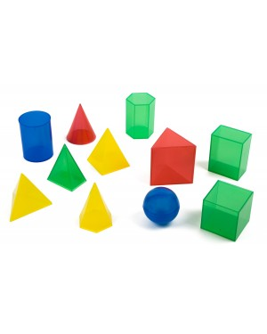 Sólidos Geométricos em Plástico 11 peças A098