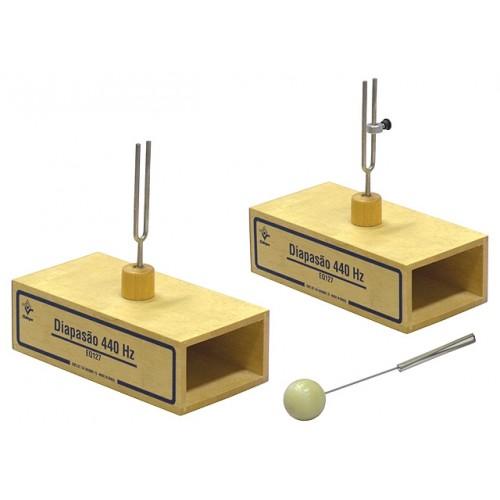 Conjunto Diapasões 440 Hz - Caixa de Ressonância e Contrapeso EQ127