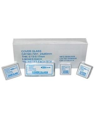 Lamínula para microscopia 20x20mm (Caixa com 100 unidades) P20X20