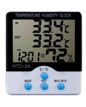 Estação Meteorológica Digital Termo-Higrômetro Relógio ML-1110