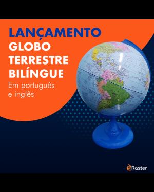 Globo Terrestre Político Bilíngue 30cm sem Iluminação GB-314472